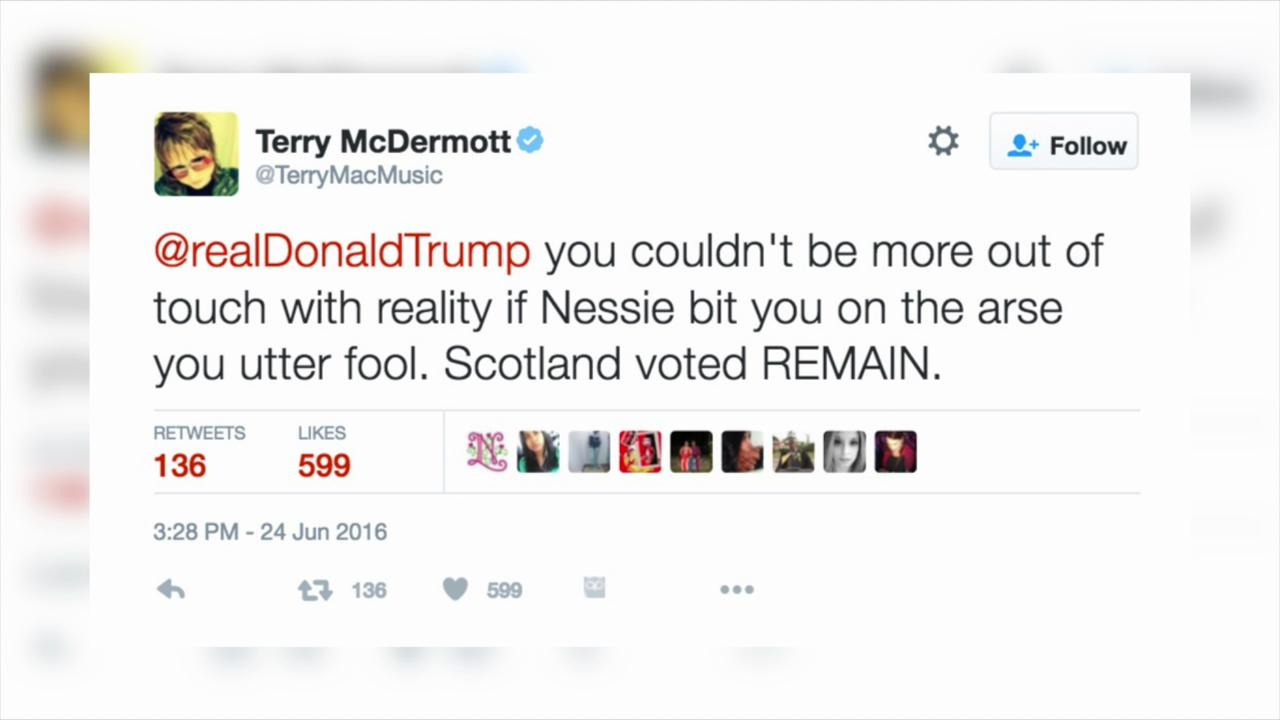 Scots get angry over Trump's arrival