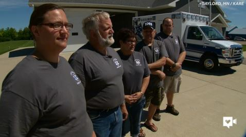 Ambulance crew sets off chain of giving