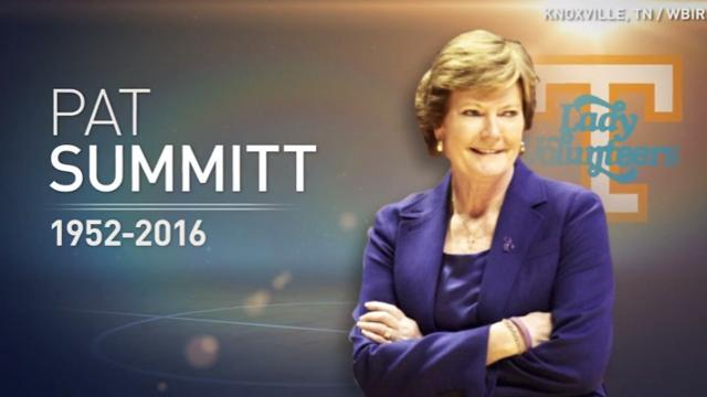 "Legendary basketball coach Pat Summitt lost her battle with dementia ""Alzheimer's Type"" at the age of 64. She made NCAA history with eight national championships and a 1,098-208 record."