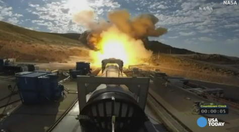 NASA tested a booster for the most powerful rocket in the world, a major milestone in the agency's effort to send a rocket to Mars.