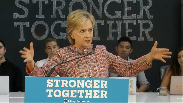 Clinton: Trump Campaign Slogan Code For Going Back