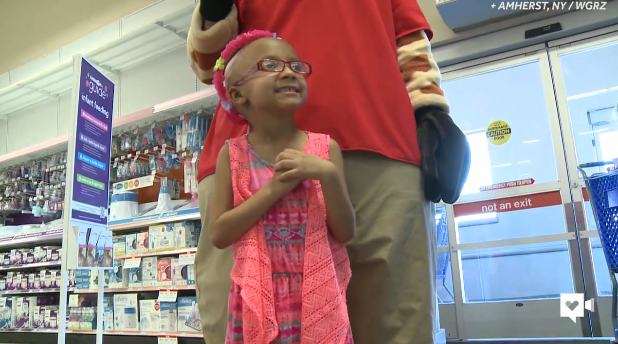 This little girl got the toy store trip of a lifetime