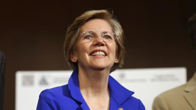 "Howie Carr asked the crowd, ""You know Elizabeth Warren, right?"" before imitating a war whoop. Video provided by Newsy"