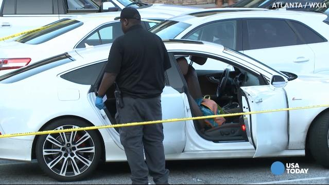 Mom shot in mall parking lot while kid is in the car
