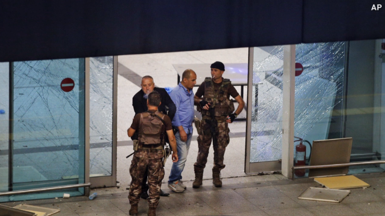 Turkish authorities say the three suicide bombers who carried out the deadly attack on Istanbul's main airport were nationals of Russia, Uzbekistan and Kyrgyzstan.