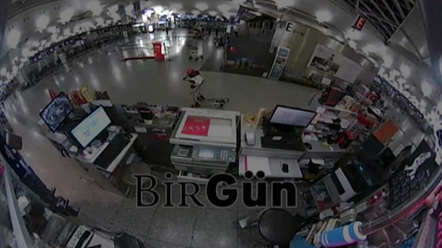 A video obtained by Turkey's Birgun newspaper shows terrified workers and passengers running away from a man dressed in black during the attack on Istanbul's Ataturk airport. (June 30)