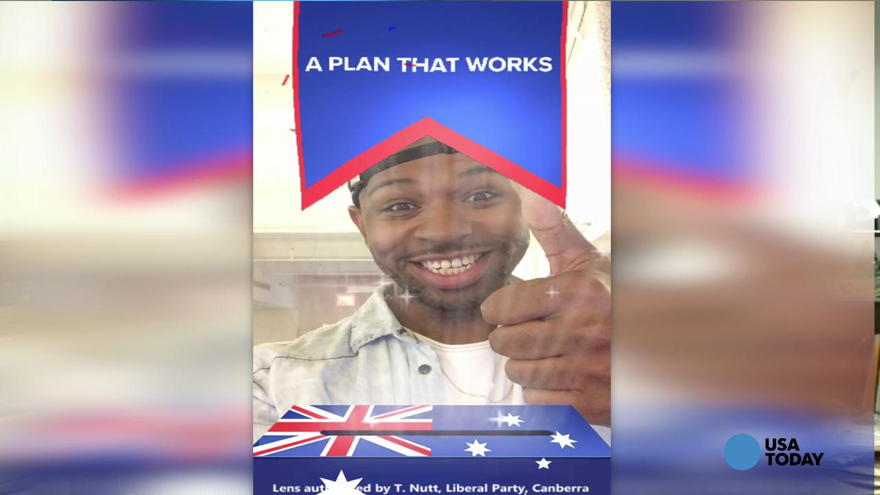 Australia has new political Snapchat lens