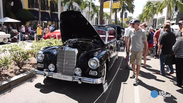 Chris Woodyard talks to Barry Sohnen of Los Angeles about his restored 1961 Mercedes-Benz 300 limousine at the Rodeo Drive Concours d'Elegance. Video by Robert Hanashiro, USA TODAY