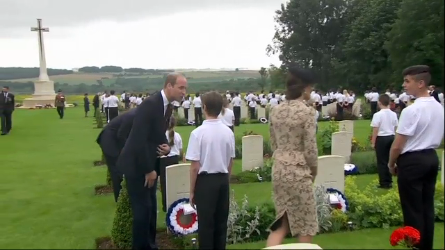 Raw: Somber Somme Battlefield Centenary Ceremony