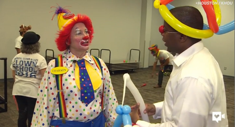 These clown school students are bringing serious smiles