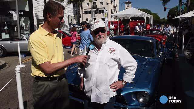 USA TODAY's Chris Woodyard checks out a 1968 Shelby GT500KR at the Rodeo Drive Concours d'Elegance. Video by Robert Hanashiro, USA TODAY