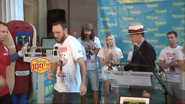 Competitive eaters prep for famous hot dog eating contest