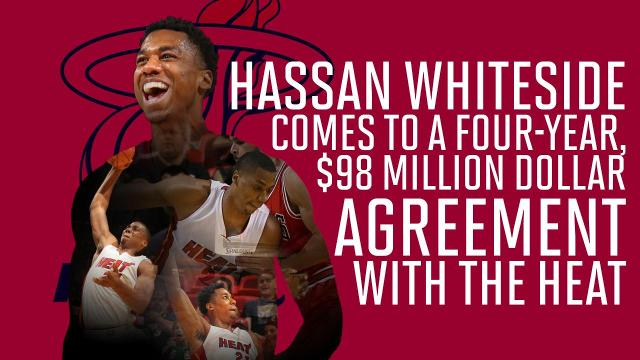 NBA free agency is off to a hot start on Day 1, with Hassan Whiteside and Chandler Parsons agreeing to new deals.
