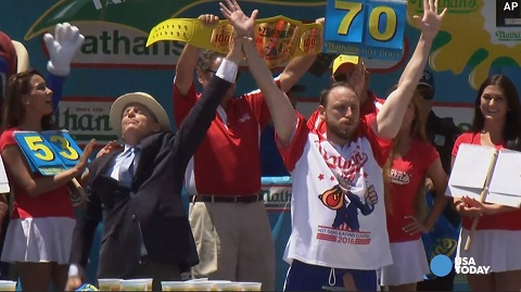 Joey Chestnut Hot Dog Record