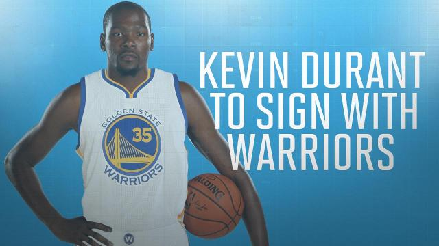 a11cf7acb8a Kevin Durant agrees to two-year deal with Warriors worth $54 million