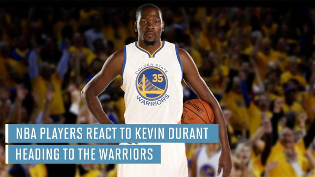 33e769854708 NBA players react to Kevin Durant heading to Warriors