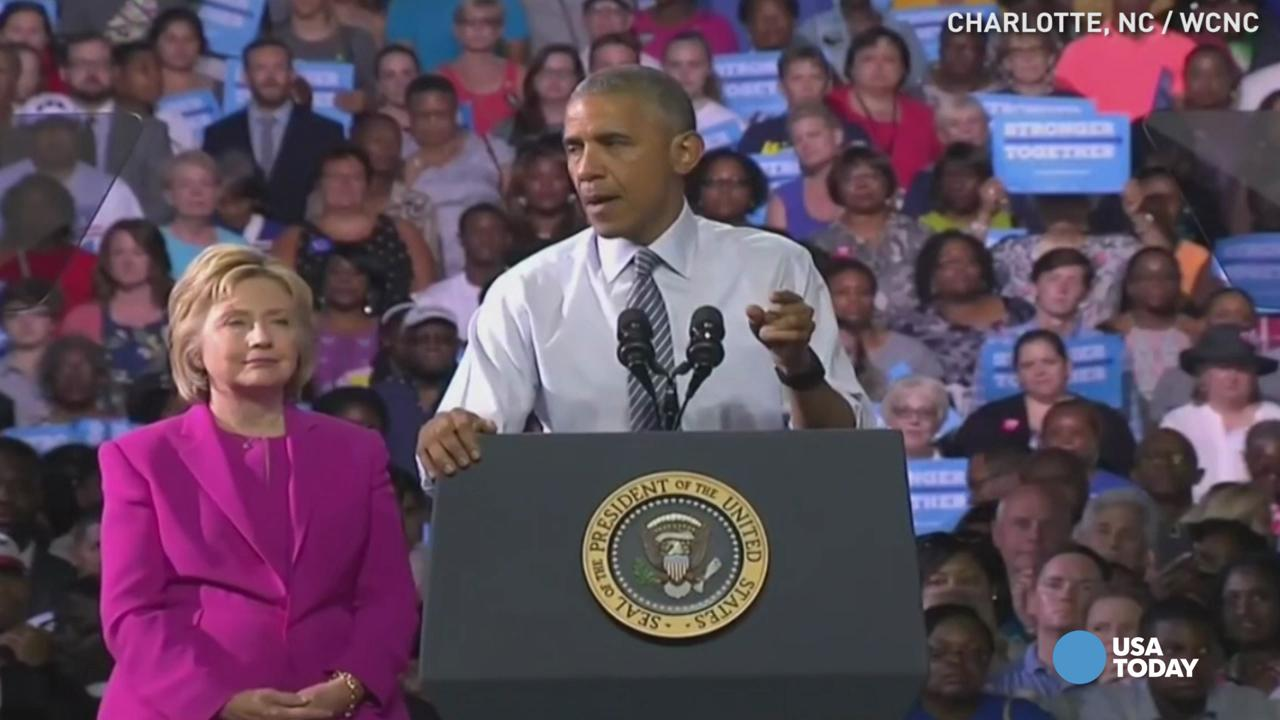 Clinton hits campaign trail with Obama for first time