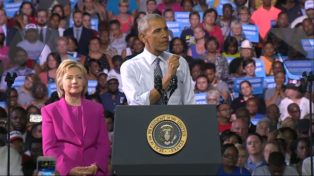 President Obama Stumps for Clinton in NC