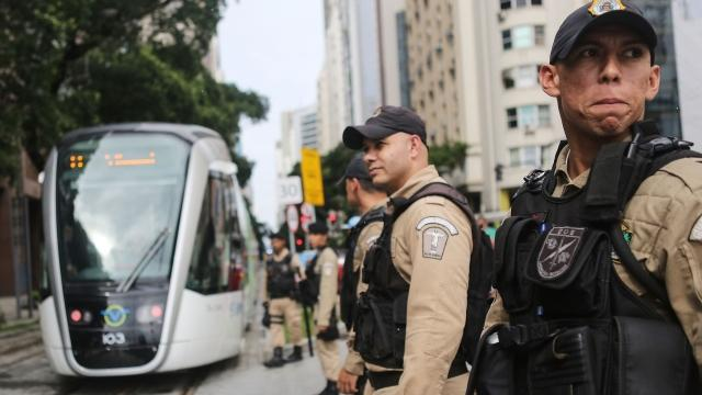 Police in Rio say they're underpaid and understaffed.