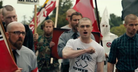 Daniel Radcliffe stars as an FBI agent who goes undercover in a white supremacist group to try to stop them from making a dirty bomb.