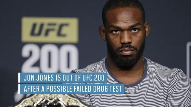 In this file photo, Jon Jones celebrates after defeating Daniel Cormier during their light heavyweight title bout at UFC 182 in Las Vegas in 2015. Jones was born in Rochester.