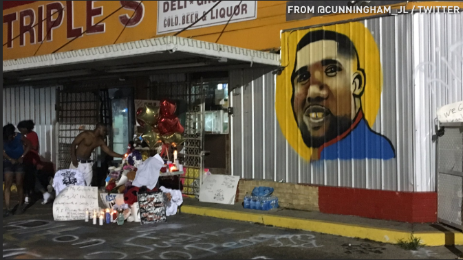 Alton Sterling memorialized at scene of his death