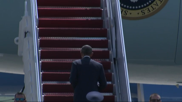 Raw: President Obama Departs for NATO Summit