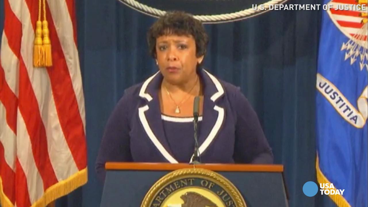 U.S. attorney general calls for action, not violence
