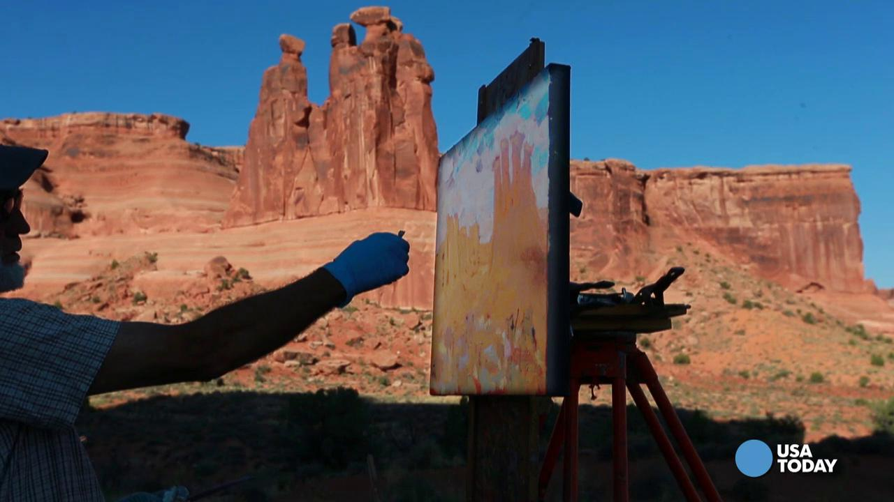 See the beauty of Arches National Park through the eyes of an artist. Video by Patrick Shannahan of The Arizona Republic.