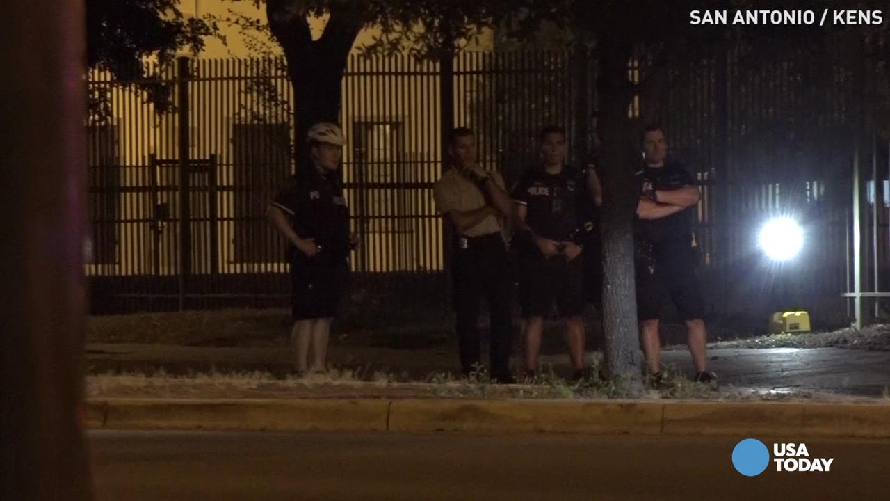 """The San Antonio Police Department headquarters was shot at multiple times on Saturday night. Chief William McManus responded to the incident by saying, """"This is not open season on police."""" Police are still searching for the suspect involved in the sh"""