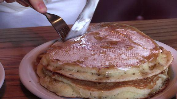 Denny's has unveiled its brand new pancake recipe coming admits intense competition for more real ingredients from major food chains.