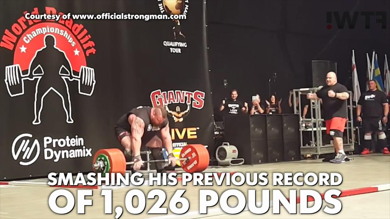 New deadlift world record