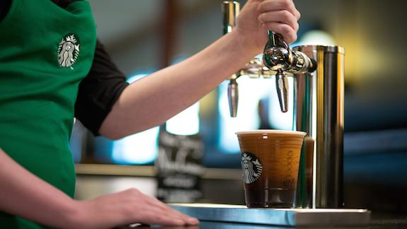 Starbucks announced that prices went up for some of its drinks in the U.S. - between 10 to 20 cents on select sizes of brewed coffee, and between 10 to 30 cents on espresso beverages and tea latte.
