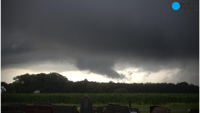 Tornadoes and heavy rain hit three U.S. states