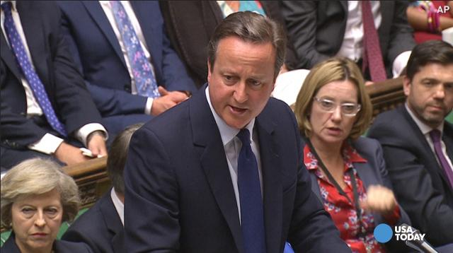 David Cameron gets standing ovation at farewell