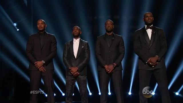 NBA stars start ESPYs with important message