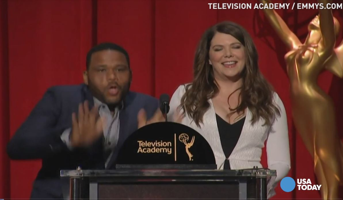 The nominations for best actor and actress in a comedy for the 2016 Emmy awards have been announced. Naturally, Anthony Anderson couldn't contain his excitement when a few familiar names were called.