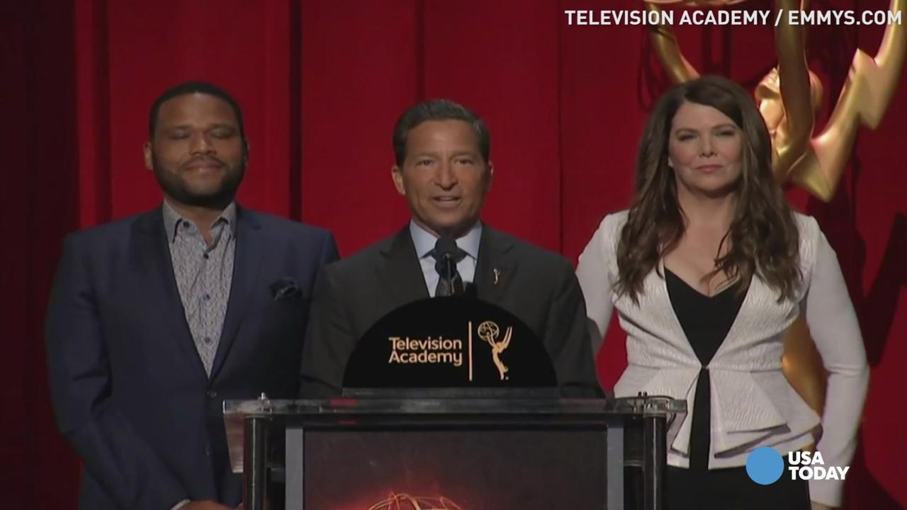 Lauren Graham and Anthony Anderson announce the 68th Emmy Award nominations for top drama and comedy series.