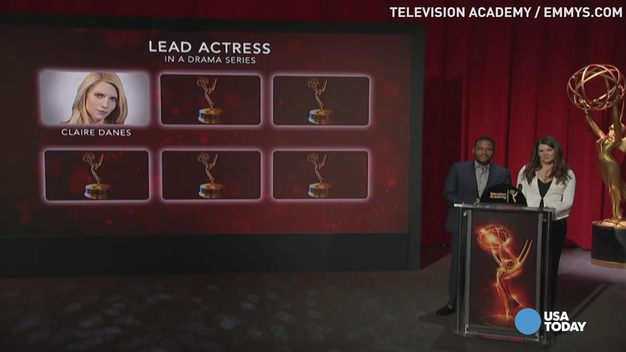 Emmy noms are in for actors in a drama series