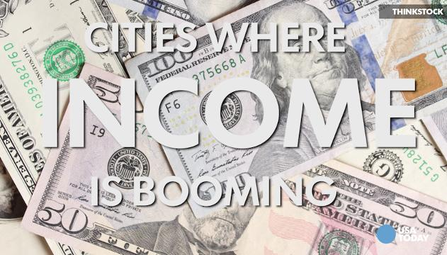 From 24/7 Wall Street, these are 10 cities in America where income is booming.