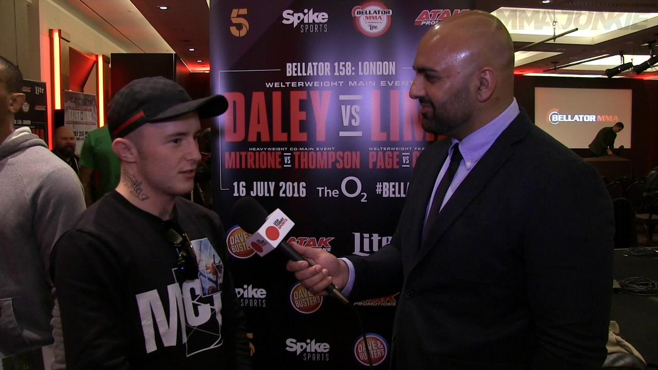 Bellator 158's James Gallagher on Conor McGregor comparisons 'Where i'm from you only wear a suit to court'