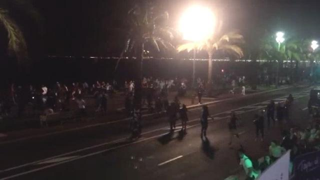 A semi-truck drove into a crowd that had gathered for a Bastille Day celebration in Nice. Video provided by Newsy