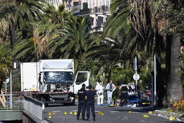 French media have identified Mohamed Lahouaiej Bouhlel, a French national of Tunisian descent, as the man who mowed down dozens of people with a truck at a Bastille Day celebration in Nice, France. Two Americans were among those killed.