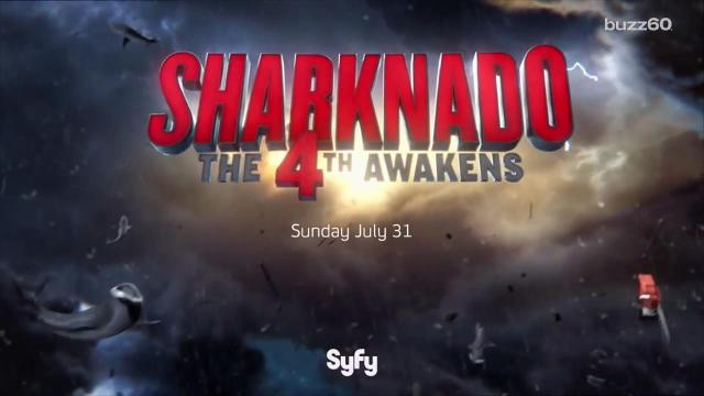 The fourth installment of Sharknado brings a whole new group of celebrity cameos. Keri Lumm (@thekerilumm) talks about the ones we see in the new trailer.