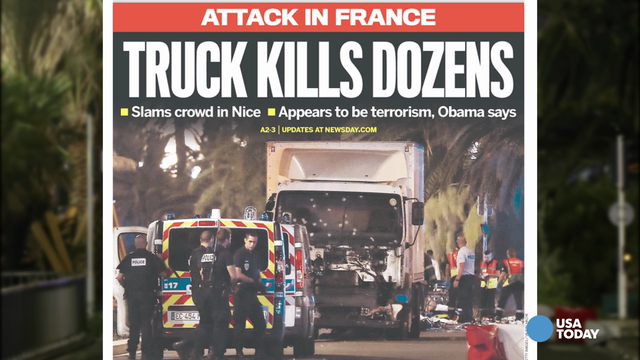 Front pages around the US react to Nice tragedy