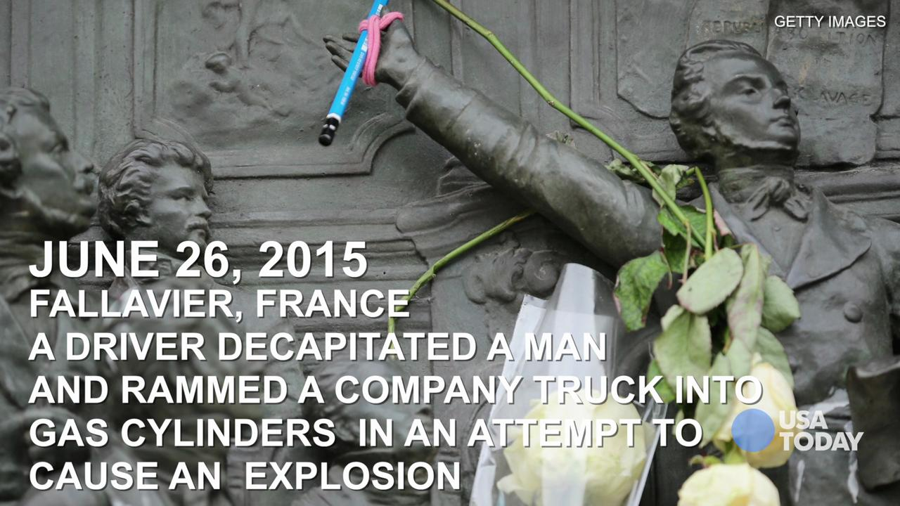 A timeline look at all of the terror attacks that have happened in France since 2014.