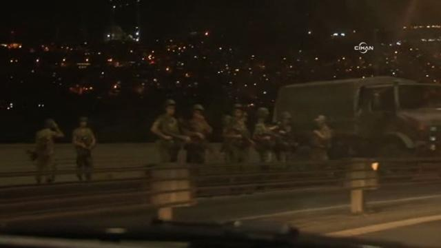 Turkish troops launched a coup Friday, with soldiers taking to the streets of Ankara and Istanbul. Video provided by AFP