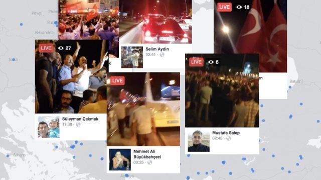 Turkish protesters used Facebook Live to film the aftermath of a military coup attempt. Video provided by Newsy