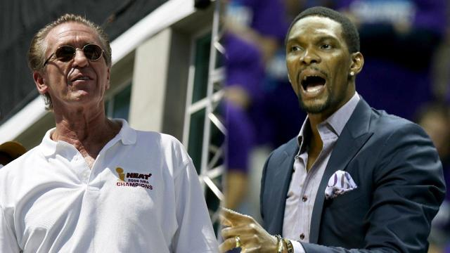 Miami Heat president Pat Riley said at a press conference Saturday that it is unclear when star power forward Chris Bosh will be able to return to the team.