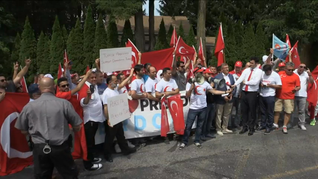 Protesters Gather at Turkish Cleric's Penn. Home
